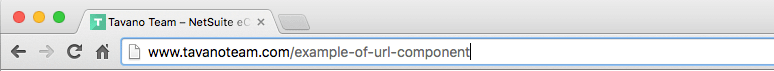 seo tips for suitecommerce  site url bar